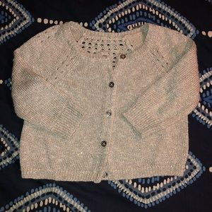 Girls Juicy Couture silver/gray cardigan sweater